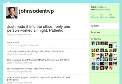 John Soden III Fake Twitter Account